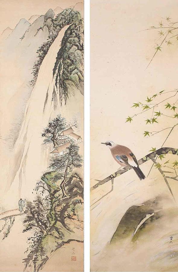 今井栄蔵氏が「紫石」の号で描かれた日本画。