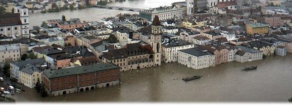 Bildquelle: Stadt Passau | Jahrhundertflut Anfang Juni 2013.