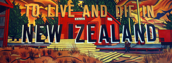 Ian Scott (1989) To Live and Die in New Zealand (Acrylic and Enamel) Wallace Arts Trust, Auckland