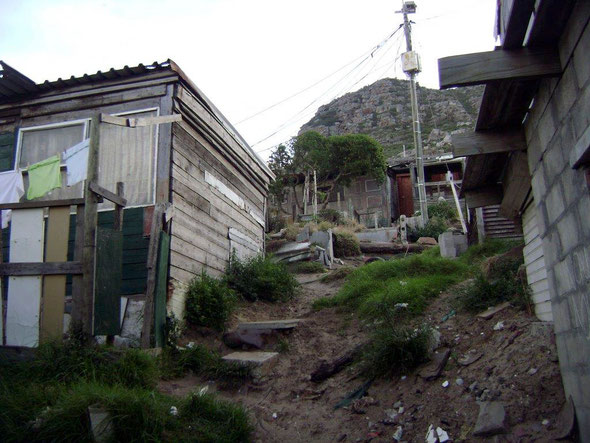 Hangberg shacks, Hout Bay