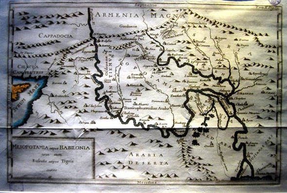 Map of Mesopotamia and Babylonia, Leventis Municipal Museum, Nicosia
