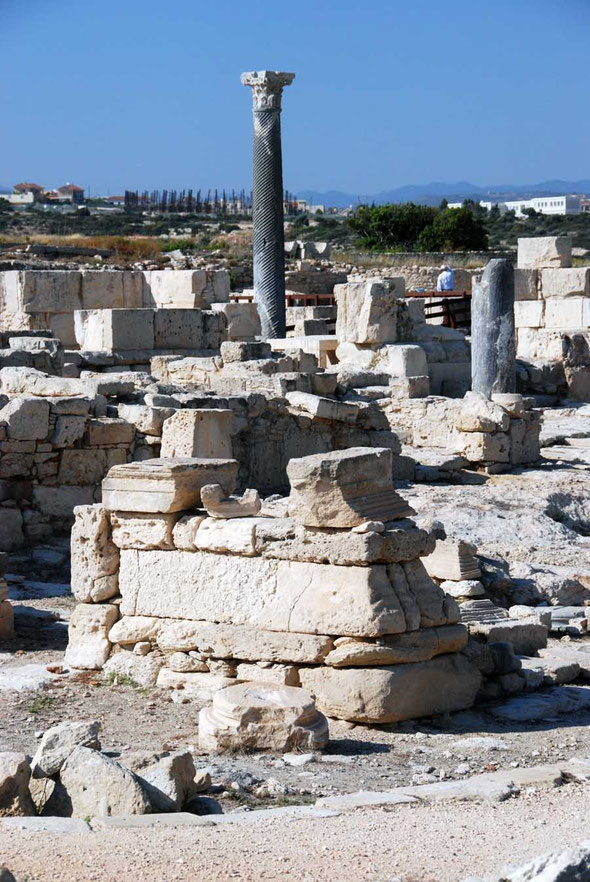 The pressures of modern development creep up behind Kourion
