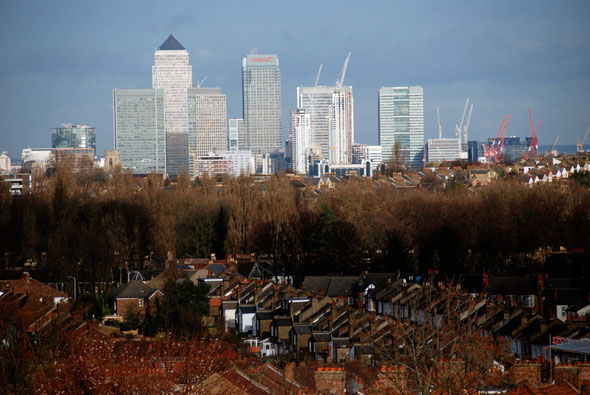 Docklands from South London