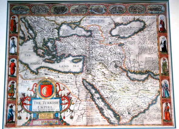 17th century map of Turkish Empire, Leventis Municipal Museum, Nicosia