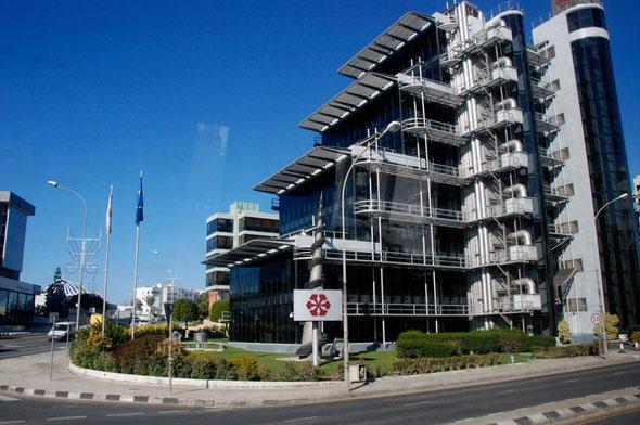Bust bank: Laiki Bank HQ in Nicosia back in Feb 2011