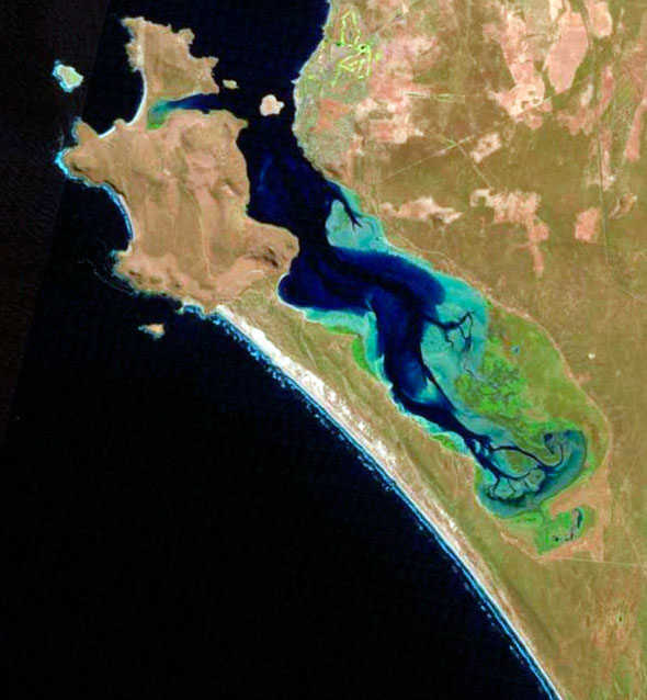 Landsat image of Langebaan Lagoon and Saldhana Bay (http://landsat.gsfc.nasa.gov)
