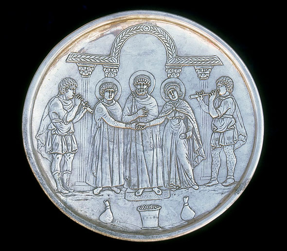 Silver Plate from the Treasure of Lambousa, 6th century AD (MOIPressandInformation)