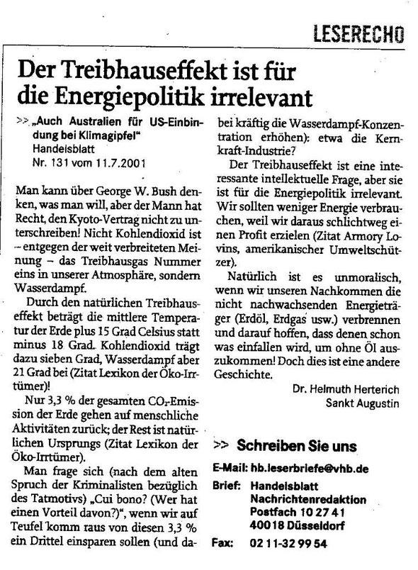 Treibhauseffekt und Energiepolitik