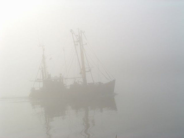 Morgennebel in Greetsiel