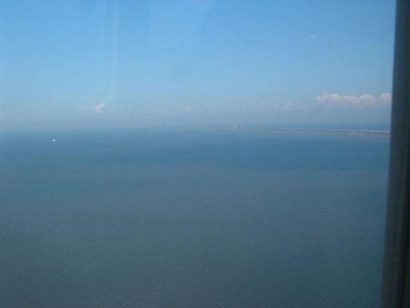 Über dem Wattenmeer