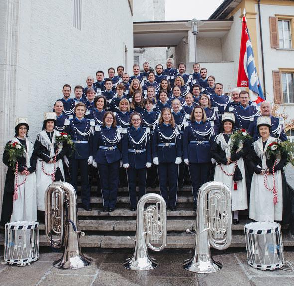 Gesamtphoto auf dem St. Martinsplatz in Visp