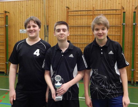 Die ersten Drei von links nach rechts: Michael Müller (3.Platz), Marco Sterk (1.) und Tom Schulte (2.)