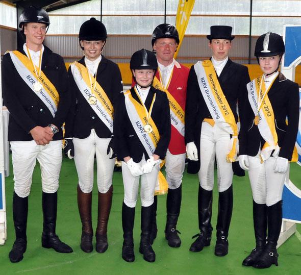 Sieger BZM Dressur und Springen 2012
