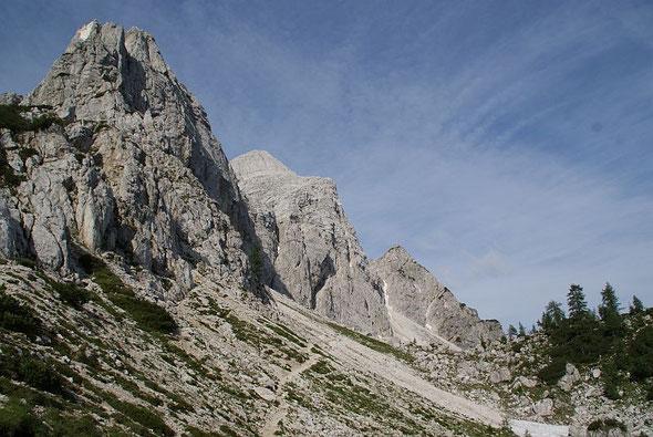 Der Hinweg zum Einstieg des Klettersteigs