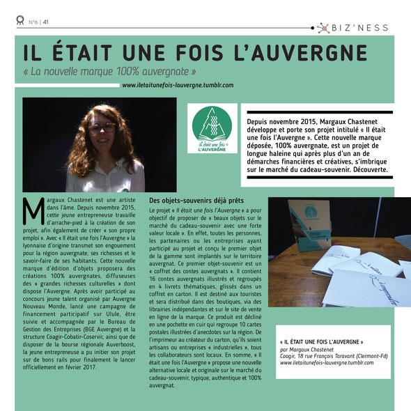 article d'Octopus magazine sur la soirée promotionnelle Il était une fois l'Auvergne ®