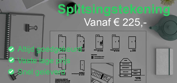 splitsingstekening architect