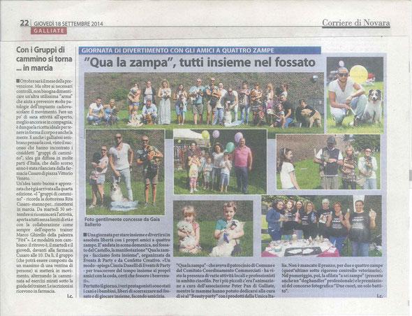 Corriere di Novara del 18-09-14
