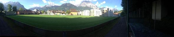 Fussballplatz Schützenmatte (Blick Richtung Dorfkern)