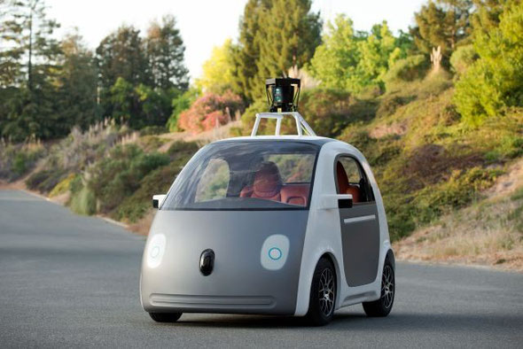 Google's Self-Driving Car. Credit: re/code
