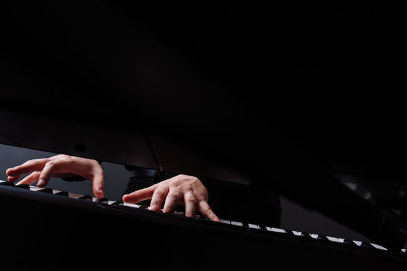 Pianist und Keyboarder und Sänger Florian Geibel