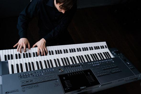 Einspielung der Pianoplaybacks am Instrument