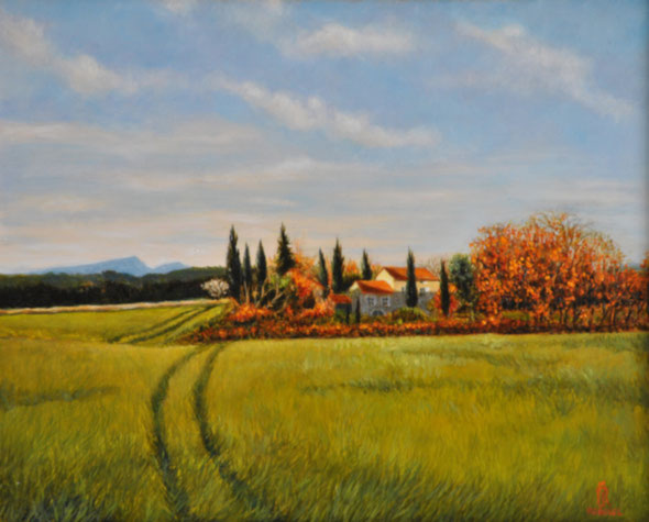 art-paysages-blauzac-peinture-uzes-champ-de-blé-mas