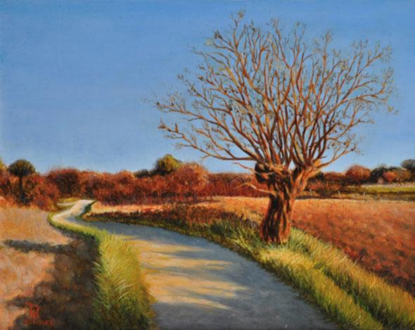 art-paysage-blauzac-uzes-peinture-à-l-huile-midi-murier-