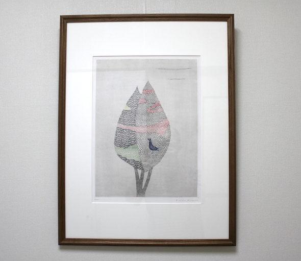 常設展示の様子                    南桂子「花のある木」1959年 銅版画