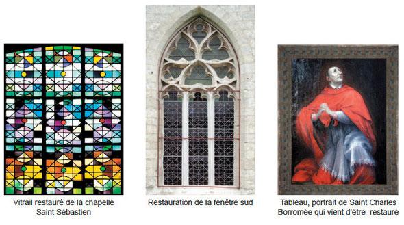 restaurations dans la chapelle Saint Sébastien