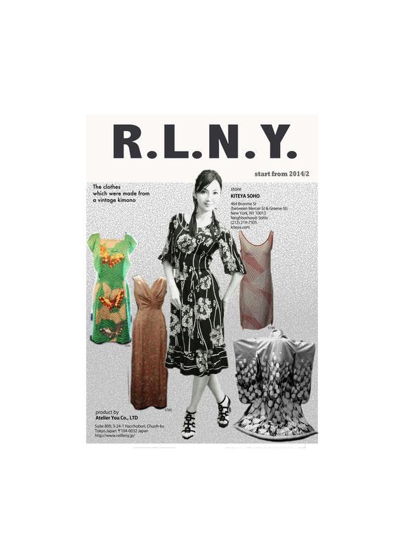 2014年2月より、アトリエ裕の既製品ブランド 「L。R。N。Y。」がNY、SOHOにあります 「KITEYA」さんで販売開始になります。 KITEYA HP http://www.kiteyany.com