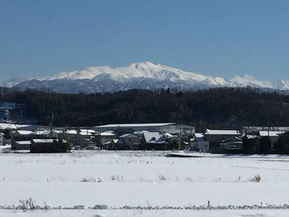 小松市木場潟地区から(1月26日午前12時40分)