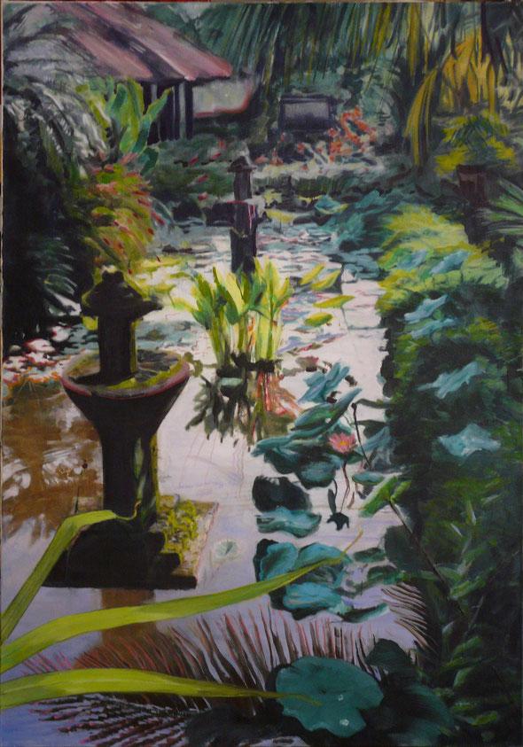 """Bali"", Öl auf Leinwand,  190 x 130 cm, 2005 Preis: 3500 €"