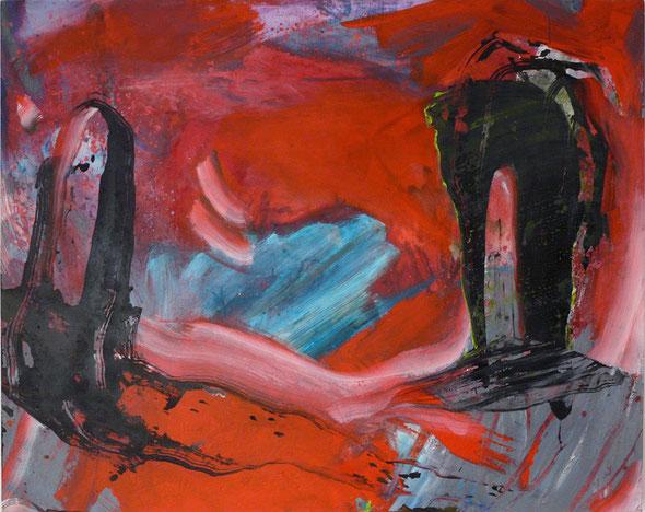 """DIe Trennung"", Acryl auf Holz, 180 x 130 cm, 2005, Preis 1900,-€"