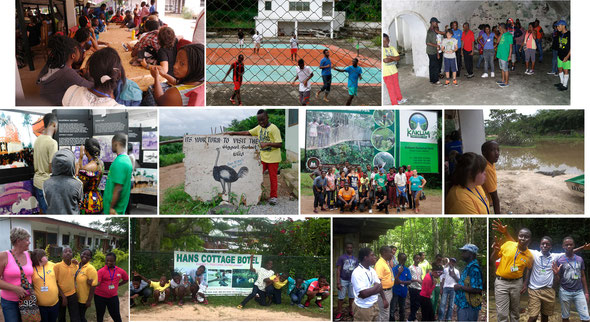 Photo of students attending their excursion at various locations