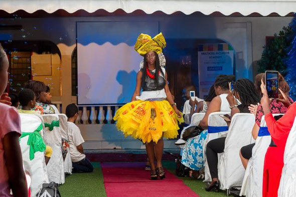 Recycled Fashion Show using plastic only