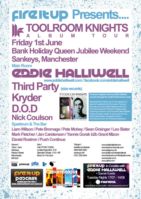 Eddie Halliwell | Toolroom Knights | Sankeys