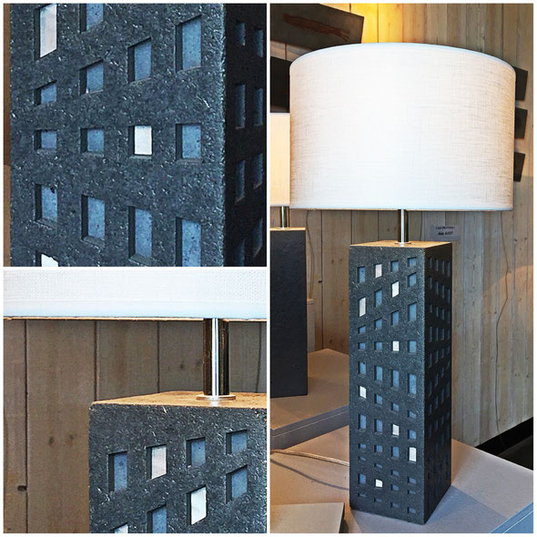 """Lampe """"Archimérobis"""" - Béton et aluminium - Hauteurs : 50 cm - 65 cm - 80 cm"""