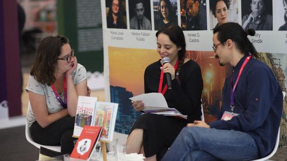 María José Cumplido, Lorena Huitrón y Santiago Sepulveda