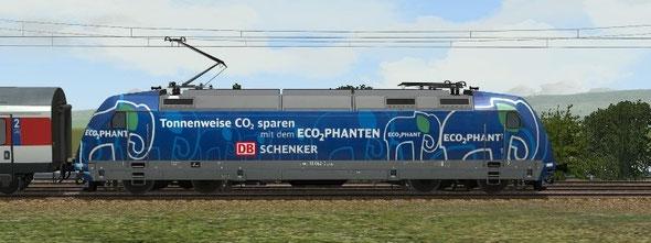 BR 101 042-0 ECO2PHANT - eine Werbekampagne der DB Schenker