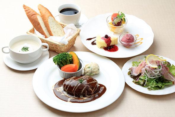 京都長岡京洋食屋AKIRAディナーコース一例