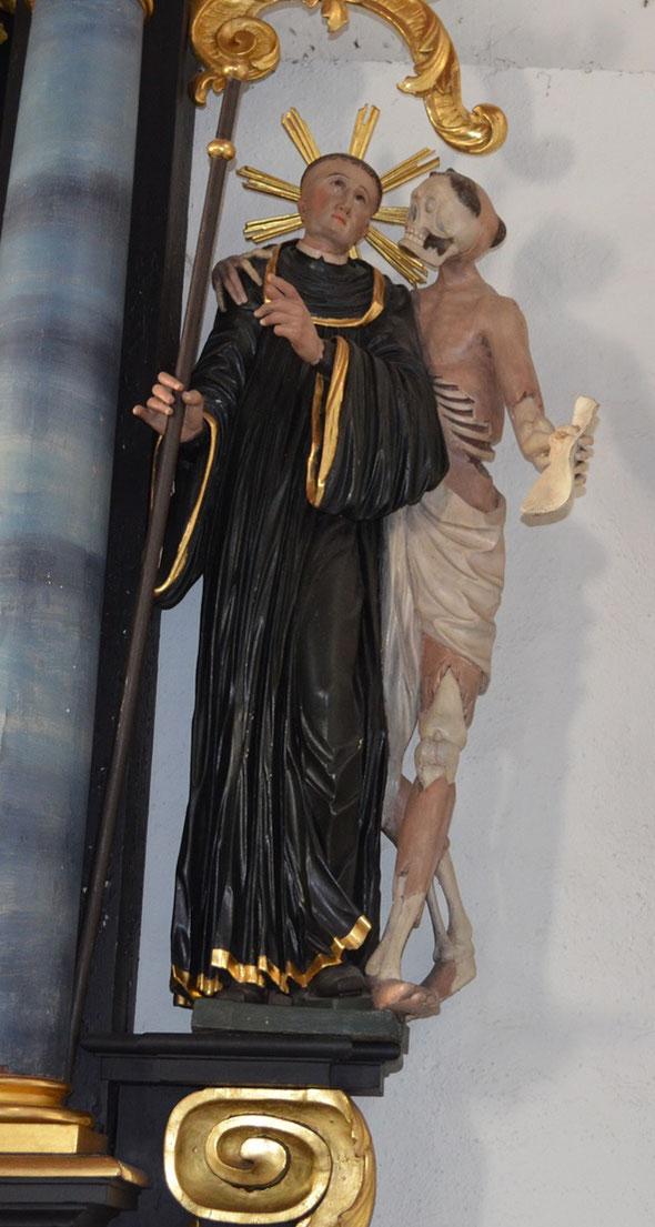 Fridolin und Ursus im Beinhaus in Frick