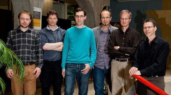 Left to right: Severin Hauser, Reto E. Koenig, Philémon von Bergen, Rolf Haenni, Stephan Fischli, Eric Dubuis