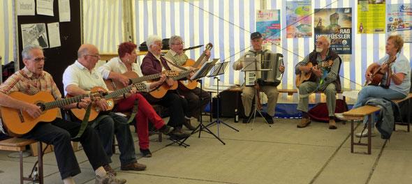 die Musikgruppe der TG Landsweiler-Reden beim Event 2014