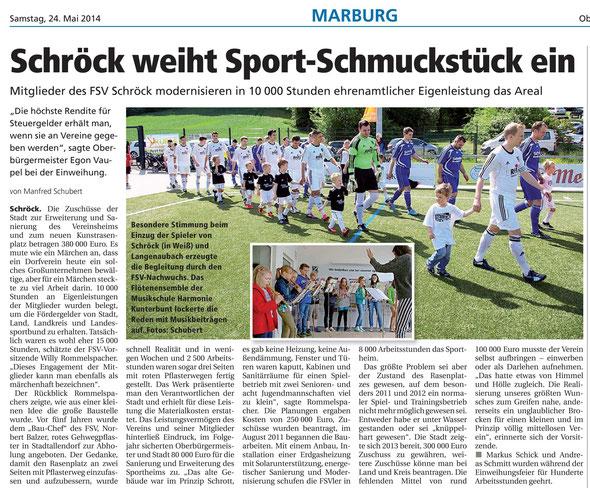 Das Resümee aus der Oberhessischen Presse in der Ausgabe vom 24. Mai