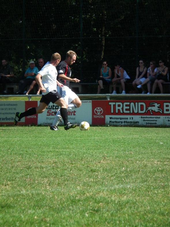 Björn Groß absolvierte sein erstes Spiel für den FSV Schröck