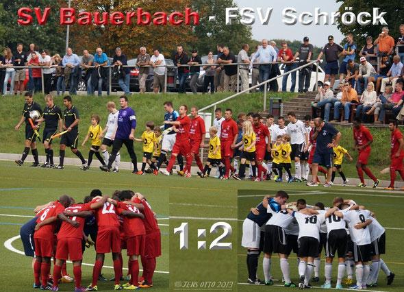 Der FSV Schröck I zu Gast im Bauerbacher Waldstadion