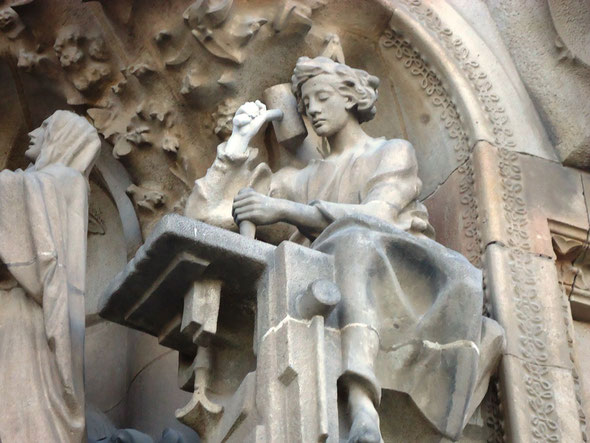 Храм Святого Семейства в Барселоне - фасад Рождества