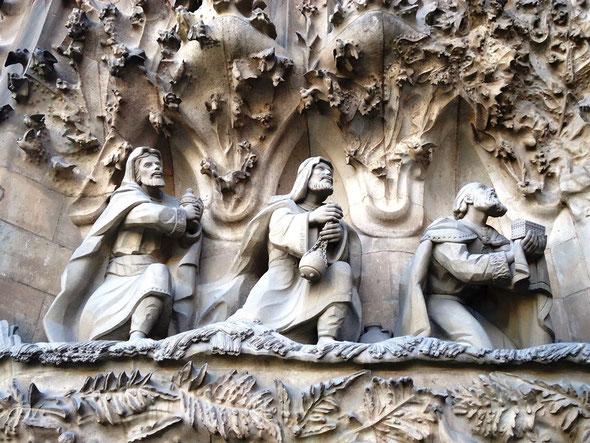 Саграда Фамилия. Фасад Роджества - как создавались скульптуры