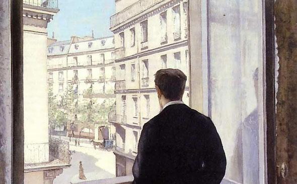 G. Caillebotte - Jeune homme à la fenêtre - Détail