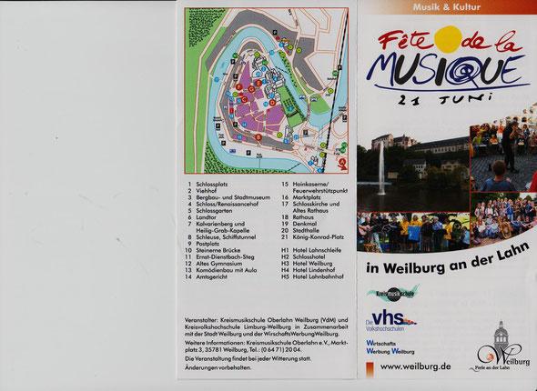 Fête Flyer Vor- und Rückseite ohne Werbung